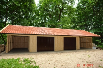 Carport Garage Kombination Holz garage carport 4 stellplätze